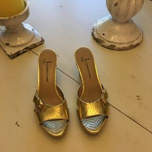Donald Pliner Gold Sliders